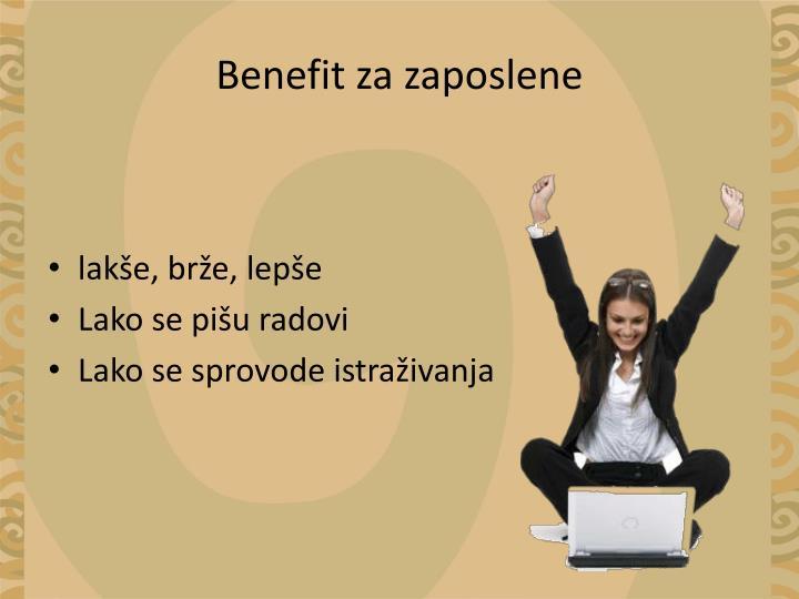 Benefit za zaposlene