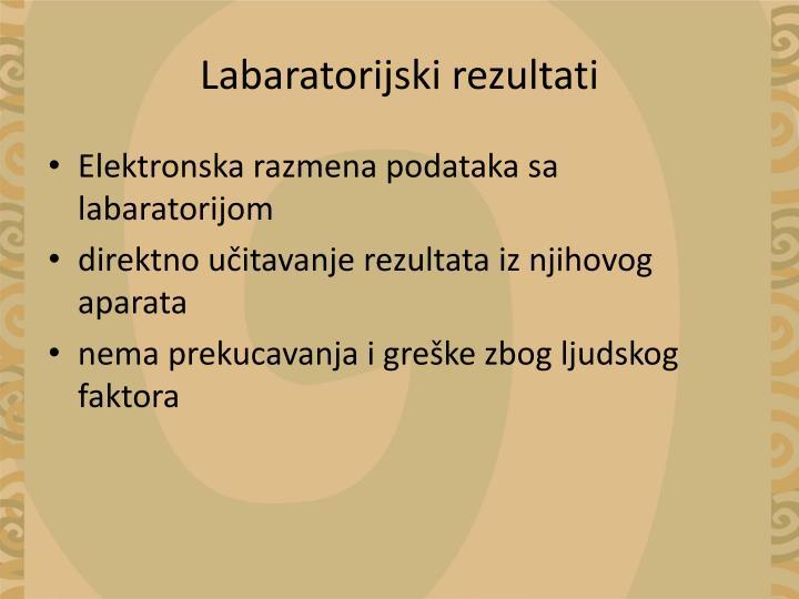 Labaratorijski rezultati
