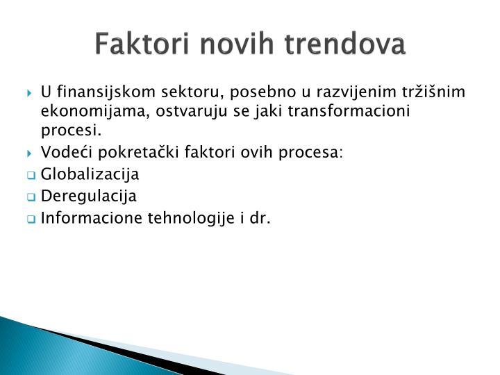 Faktori novih trendova