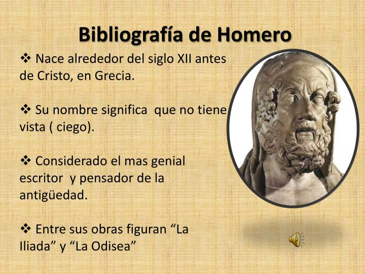 Bibliografía de Homero