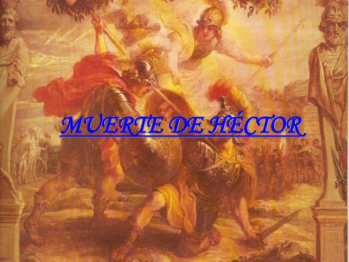 MUERTE DE HÉCTOR