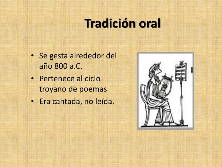 Tradición oral