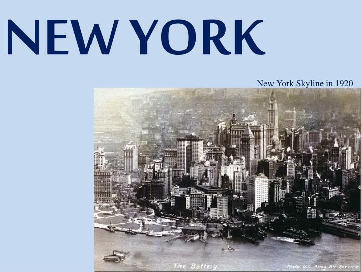 New York Skyline in 1920