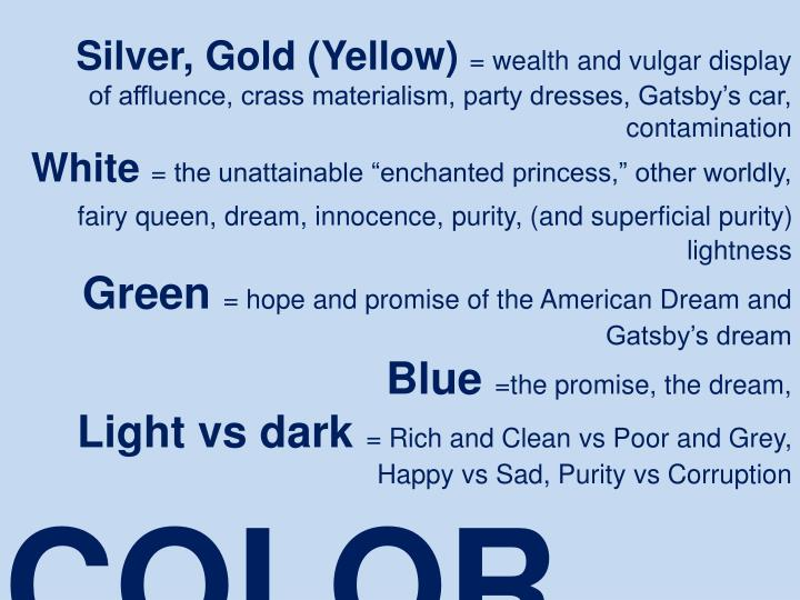 Silver, Gold (Yellow)