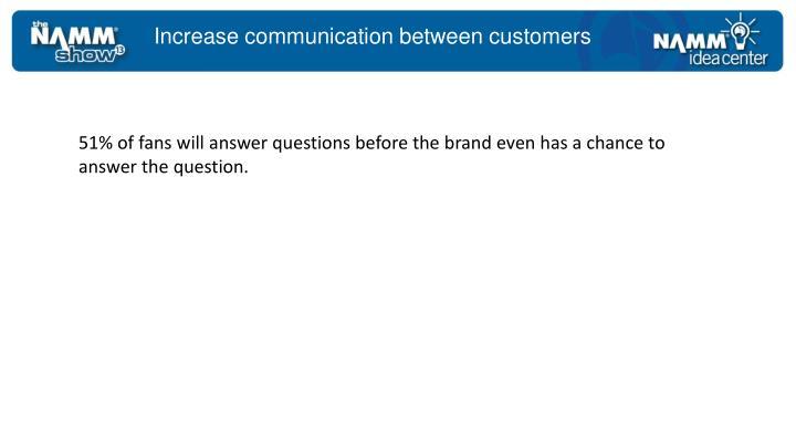 Increase communication between customers
