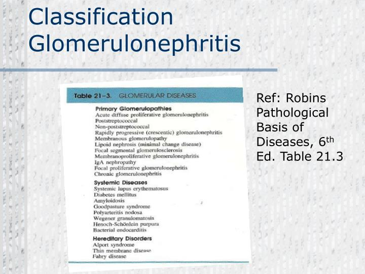 Classification Glomerulonephritis