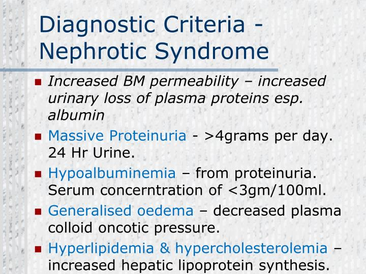 Diagnostic Criteria -