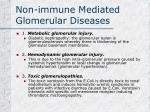 non immune mediated glomerular diseases