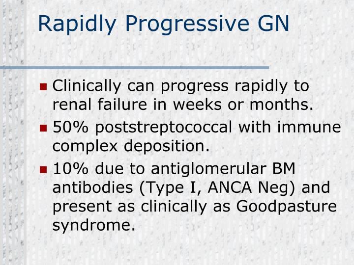 Rapidly Progressive GN
