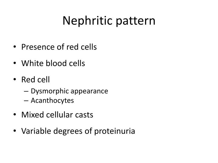 Nephritic pattern