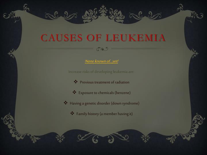 Causes of leukemia