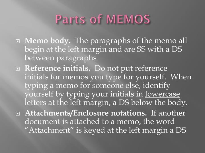 Parts of MEMOS