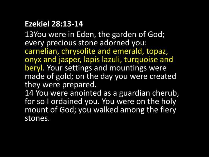 Ezekiel 28:13-14
