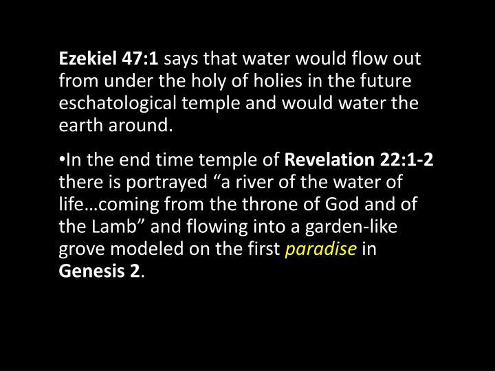 Ezekiel 47:1