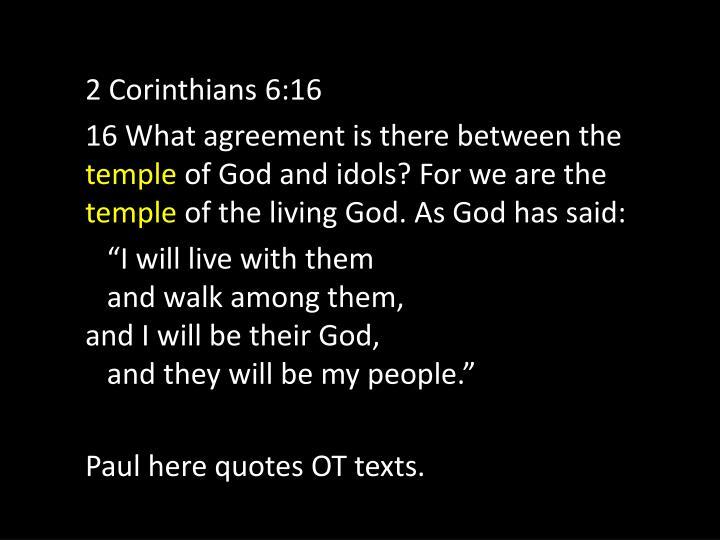 2 Corinthians 6:16