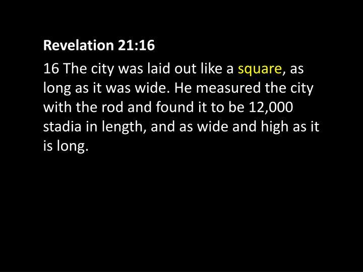 Revelation 21:16