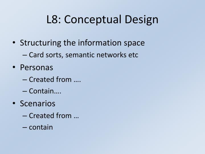 L8: Conceptual Design