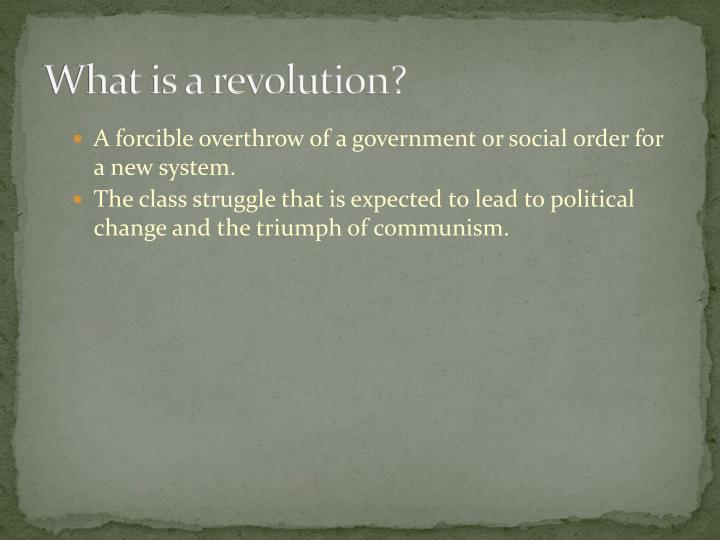What is a revolution