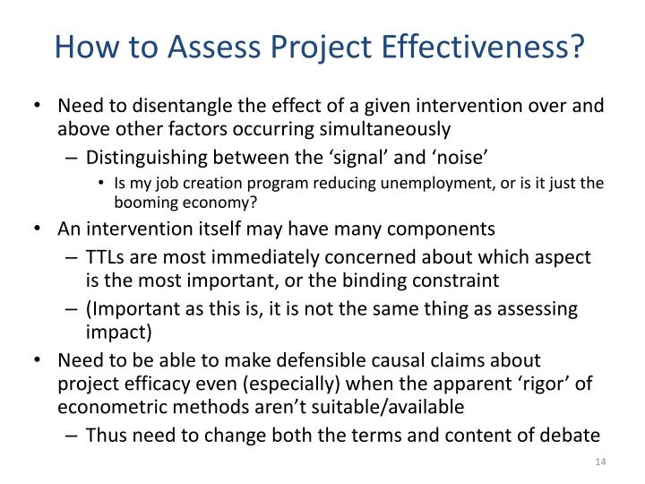 How to Assess Project Effectiveness?