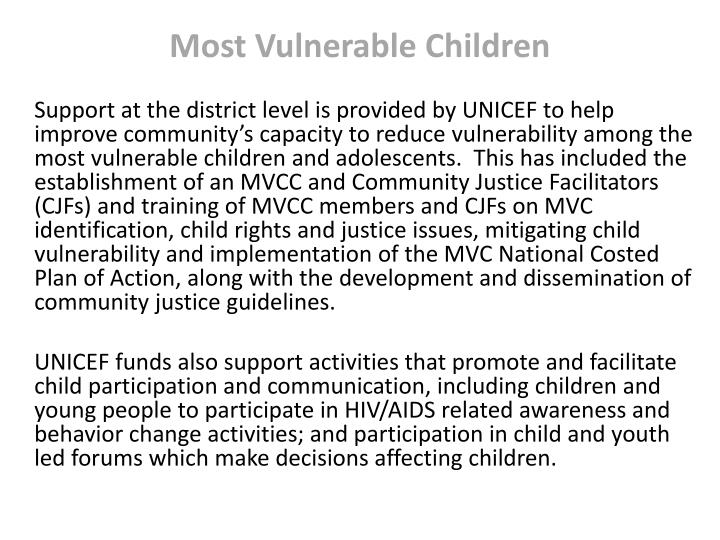 Most Vulnerable Children