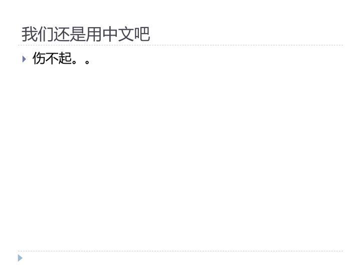 我们还是用中文吧