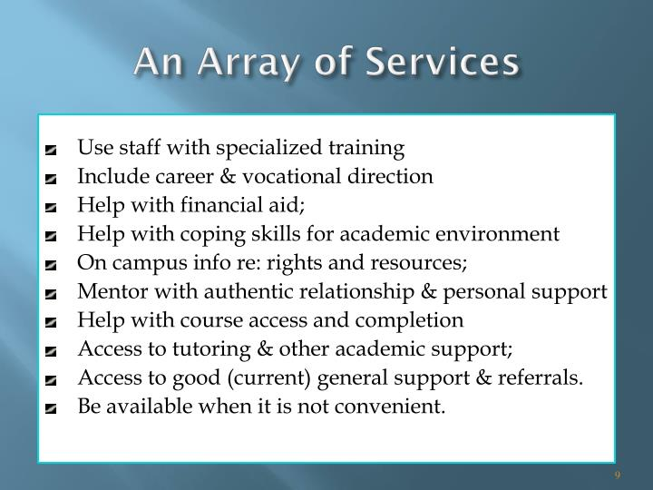 An Array of Services