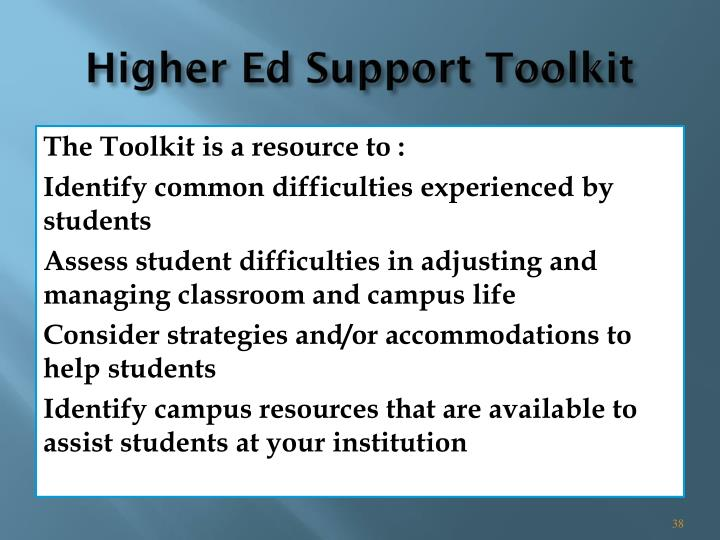 Higher Ed Support Toolkit