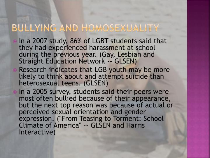 Bullying and Homosexuality