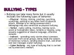 bullying types