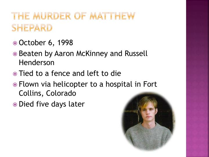 The Murder of Matthew Shepard
