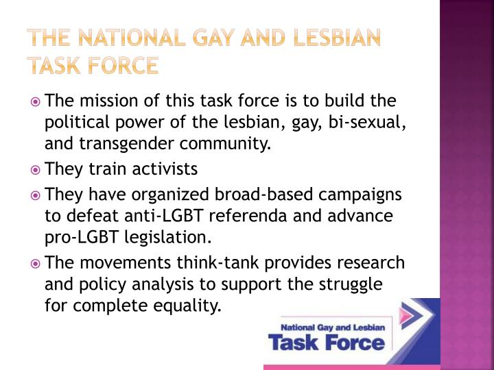 The National Gay and Lesbian Task Force