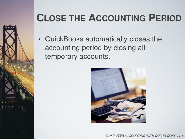 Close the Accounting Period