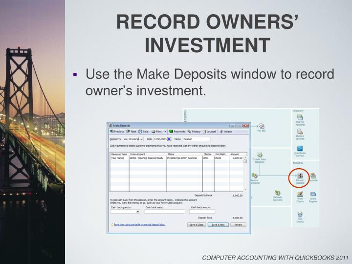 Record owners investment