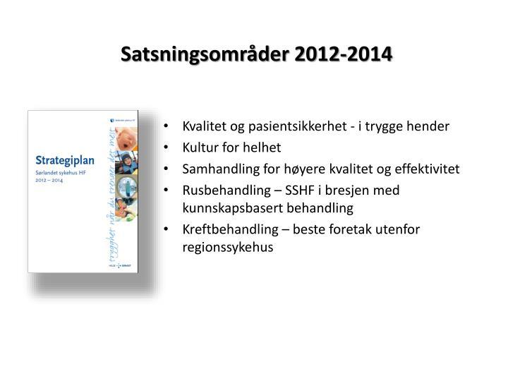 Satsningsområder 2012-2014