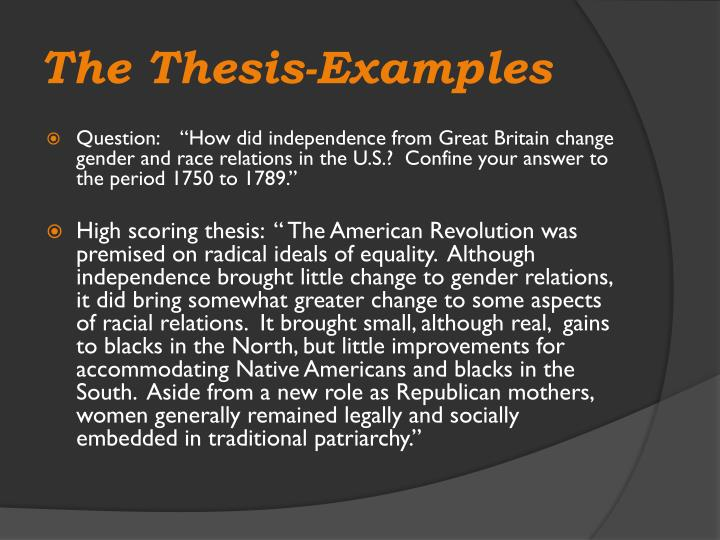 The Thesis-Examples