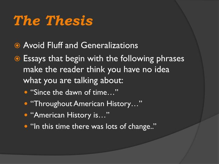 The Thesis