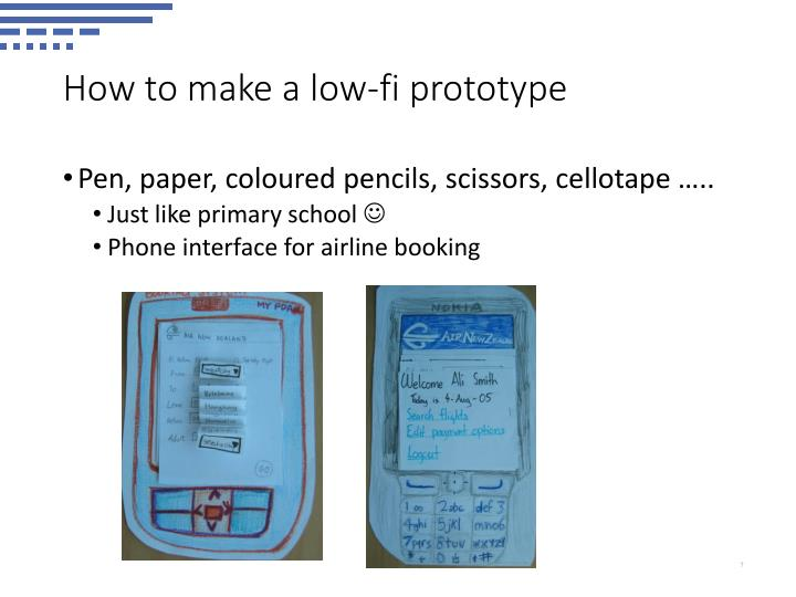 How to make a low-fi prototype