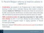 5 r ecent belgian reforms to improve access to capital 2