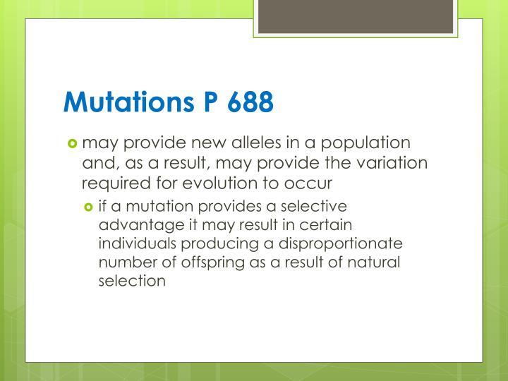 Mutations P 688