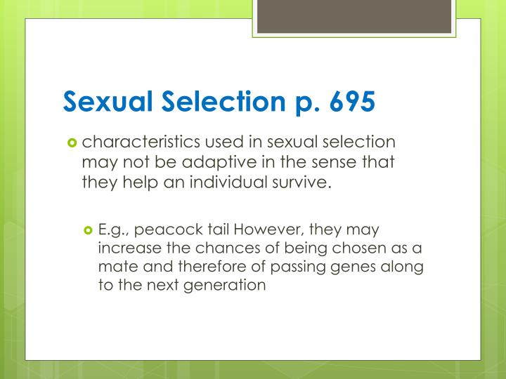 Sexual Selection p. 695