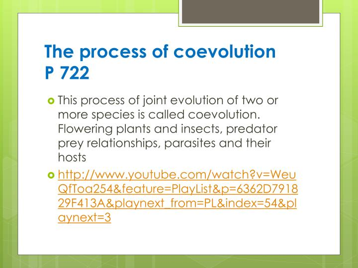 The process of coevolution