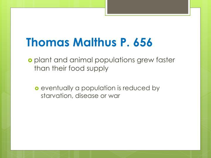Thomas Malthus P. 656