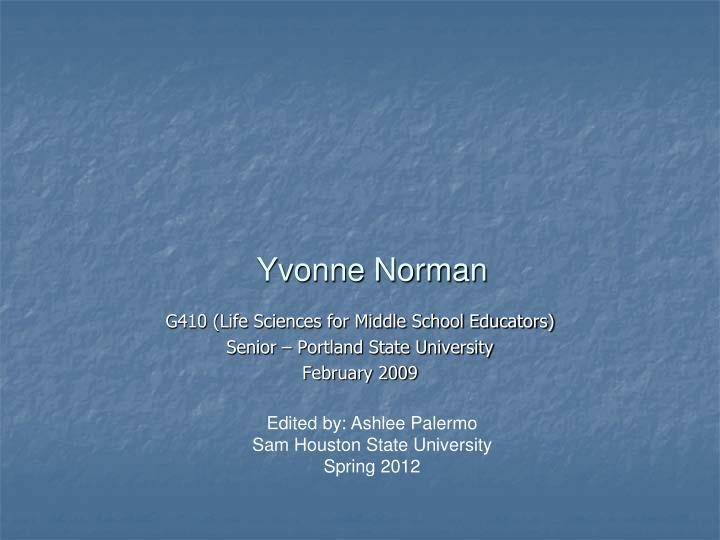 Yvonne Norman