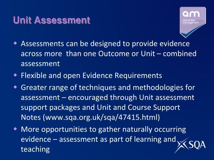 Unit Assessment