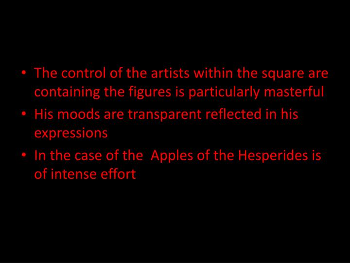 The control of the artists within the square are containing the figures is particularly masterful
