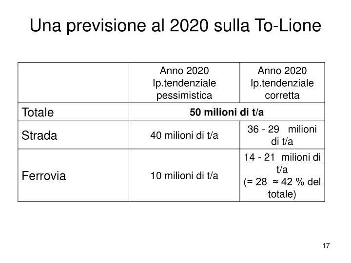 Una previsione al 2020 sulla To-Lione