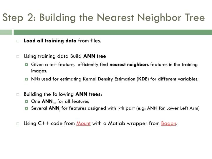 Step 2: Building the Nearest Neighbor Tree