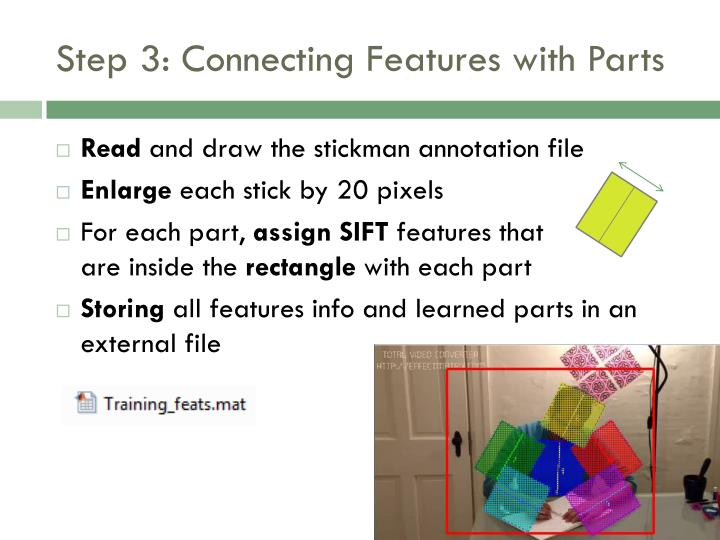 Step 3: Connecting Features with Parts