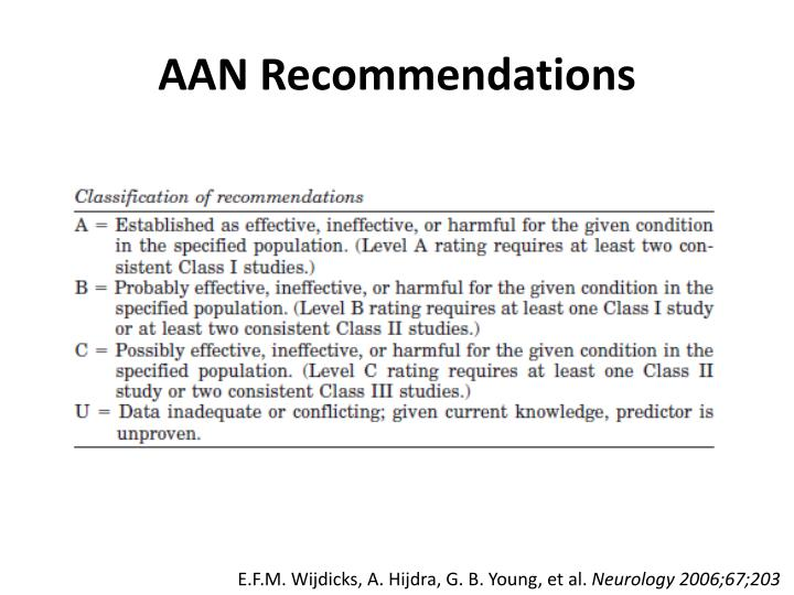 AAN Recommendations