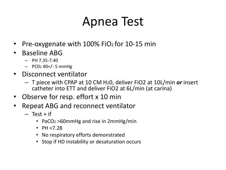 Apnea Test